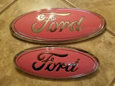 "2011-2015 Edge Grill and liftgate emblem. 9"" & 7"" PINK Breat Cancer Awareness pr"