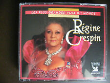"3CD REGINE CRESPIN ""Les plus grandes voix du monde"" Sélection du Reader's digest"