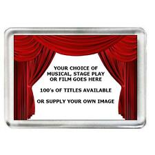 5 x Fridge Magnets Musical, Stage Play or Film. 100's of titles to choose from.