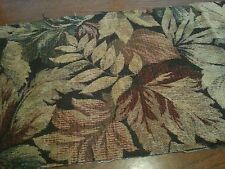 Vintage Upholstery Ferns Leaves Brocade Fabric Remnants Salvage Chunk