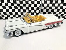 Sun Star Platinum 1958 Buick Limited Wells Fargo Convertible White 1:18 Boxed