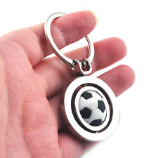 3D Sports Rotating football soccer Keychain Keyring Chain Ring Key Fob ball
