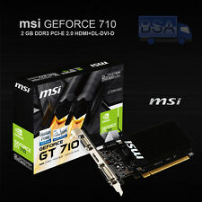 MSI NVIDIA GEFORCE GT710 2GB DDR3 PCI-E DVI HDMI VGA Low Profile Scheda Video