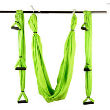 Inversion Anti-Gravity Aerial Traction Yoga Fitness Swing Hammock Green