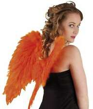 Ailes d'ange en plumes orange 48 cm [6528261] halloween costume deguisement fete