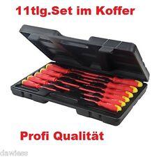 Schraubendreher Satz Schraubenzieher Set 11 tlg. Elektro Kreuz Schlitz Werkzeug
