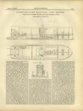 1877 lumière de tirant d'eau flottant fire engine edwards symes london figure