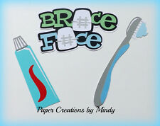Craftecafe Mindy Braces Teeth dentist  title premade paper piecing scrapbook