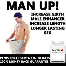 "MAN UP INSTANT ENHANCER - PENIS ENLARGEMENT PILLS!! GROW 3""-4"""