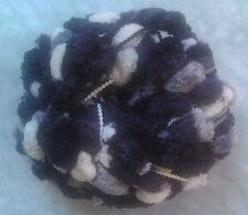 Lot 4 sk pom pom yarn pompoms hand knitting wool Black+White+Grey
