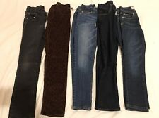 Lot of 5 Pair Girl's Skinny Mix Jeans Size-7-8 Levi's,Place,Justice, Gap(NWT)