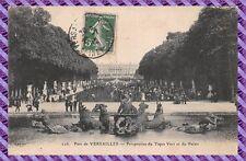 Carte Postale - Parc de Versailles - Perspective du Tapis Vert et du Palais