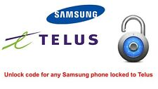 Unlock code for Samsung Galaxy S2, S3, S4, S5, S6, S6 Edge locked to Telus Koodo