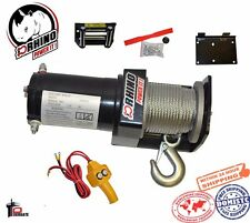 D-Rhino 2000lb 12V Electric Recovery Winch Truck SUV ATV Tow Boat Trailer w/ Kit
