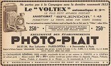 Y8844 PHOTO-PLAIT - Voltex automatique - Pubblicità d'epoca - 1933 Old advert