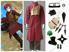 Custom-made Naruto Shippuuden Gaara 2nd Cosplay Party Costume Red Set