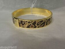NEW!! AUTHENTIC COACH OCELOT 1/2 INCH BANGLE BRACELET- F99543