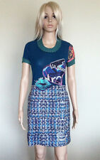 NWT €104 AU$154 DESIGUAL Originals Blue Gaultier Dress Sz XS, AU 6-8