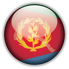 Eritrea Map Flag Glossy Label Car Bumper Sticker Decal 5'' x 5''