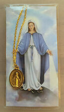 "POPE JOHN PAUL'S PRAYER TO OUR LADY 18"" GOLD TONE RELIGIOUS NECKLACE  (3585)"