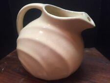Vtg Rare McCoy Pottery Tilted Pitcher Ice Lip Pale Citrus Yellow Gorgeous