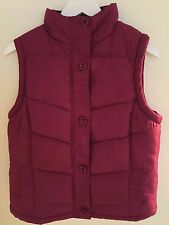 Womens Dark Pink Quilted Fur Lined Gilet Bodywarmer Dock Of The Bay 12 New
