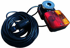 MAGNETIC REAR TRAILER LIGHT SET LIGHTBOARD TOWING LAMPS  4.5 METRE CABLE tractor