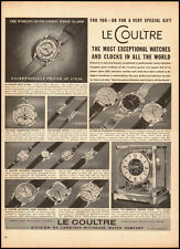 1960 vintage AD, LE COULTRE Watches  Longines-Wittnauer clocks  (093014)