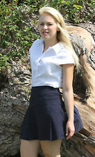 Girls Size 12 School stretchy Mini skirt School uniform Navy Blue