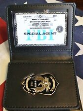 FBI Leather ID Case/Wallet, Embossed, Directorate of Intelligence