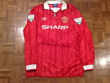MANCHESTER UNITED 1993-1994 HOME MATCH WORN/ISSUE SHIRT PLAYER BLACKMORE