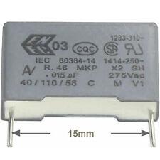 10 St entstörkondensator Av mkp x2 0,015µf 15nf 275/300vac rm15 conforme RoHS