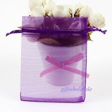 12 Size Sheer Organza Wedding Party Jewelry Pouches Favor Gifts Candy Bags