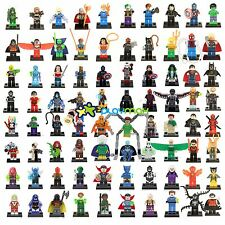 Lots 80 PCS DC Marvel Avenger Super Heroes Minifigures building toys new in bags