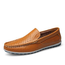 Mens Moccasins Breathable Leather Driving Shoes Casual Loafers Shoes 3 colors