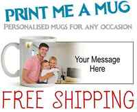 PERSONALISED MUG WITH YOUR OWN NAME/PHOTO/MESSAGE