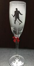 Personalised Etched Sandblasted Elvis  Champagne Glass Custom Gifts Name Added