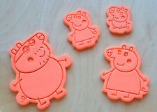 Peppa Pig, George, Mummy Pig, Daddy Pig Cookie Cutter and Stamp Set