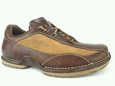 310 MOTORING 2 TONE LEATHER/SUEDE URBAN CASUAL SHOES BROWN MENS US 9.5 M EU 42.5