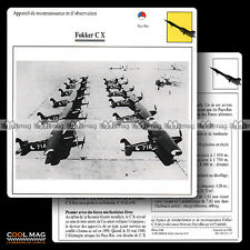 #111.17 FOKKER C X - Fiche Avion Airplane Card