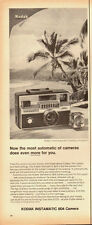 1950's Vintage ad for KODAK Instamatic 804 Camera~Camera/Beach/palms