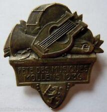 Insigne Suisse en métal lourd FETES DES MUSIQUES MOLLENS 1936 ORIGINAL