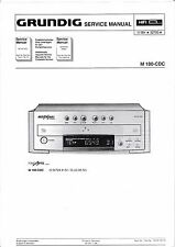 Service Manual-Instructions pour Grundig M 100-cdc