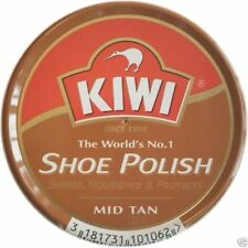 Kiwi Shoe Shine Wax Polish Paste Nourish Leather Care Boot HI-Gloss 11/8z MidTan