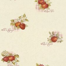 Rasch Traditional Apple Kitchen Wallpaper Tiling on a Roll 824506