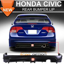 2006-2011 Honda Civic Sedan 4Dr Mugen RR Rear Bumper Lip & 3RD LED Brake Lamp