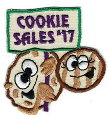 Girl Boy COOKIE SALES 2017 cookies seller Fun Patches Crest Badge SCOUTS GUIDE