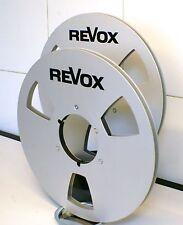 """2 X REVOX LOGO METAL NAB HUB REEL TO REEL 10.5"""" X 1/4"""""""