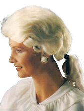 Mens Judge Court Barrister Lawyer Regal Baroque Fancy Dress Accessory Wig New