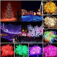 2M-100M Electric/Battery/Solar/DC/USB Powered LED Fairy String Lights Xmas Party